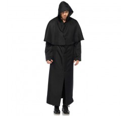 Costume Halloween -  Hooded Botton Front Cloack