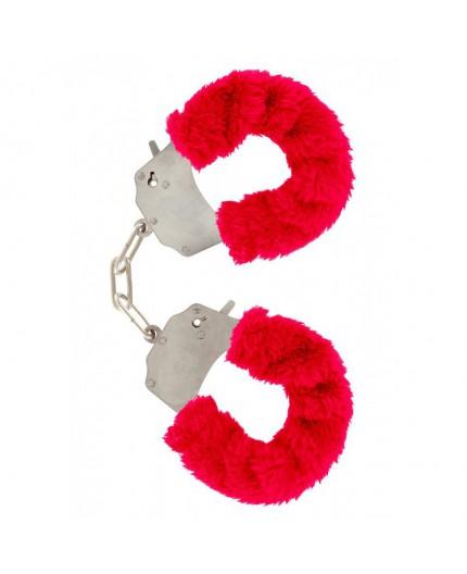 Manette Furry Fun Cuffs Rosse - Toy Joy