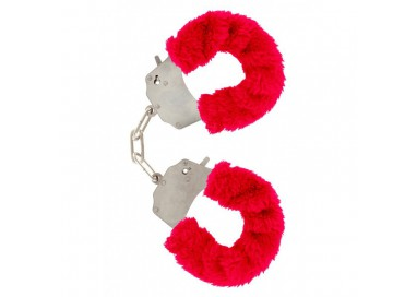 Costrittivo - Manette Furry Fun Cuffs Rosse - Toy Joy
