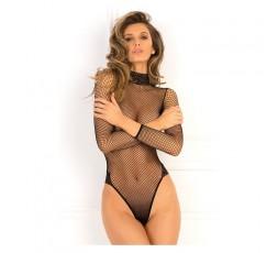 Sexy Shop Online I Trasgressivi - Sexy Lingerie - Body Rete Maniche Lunghe Nero - René Rofé