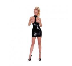 Mini Dress Latex Blk -GP