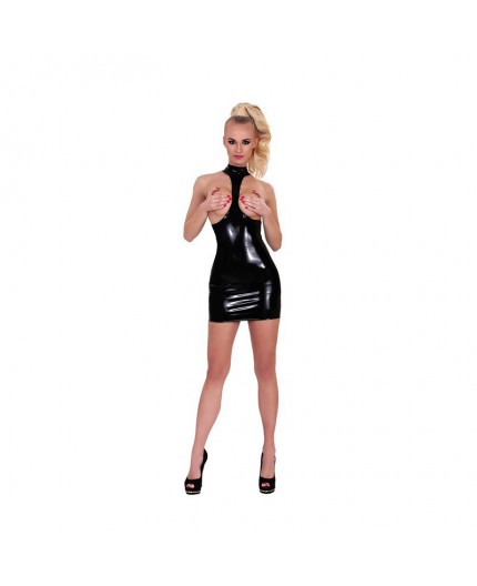 Sexy Shop Online I Trasgressivi - Abbigliamento In Latex - Mini Abito Nero Latex - Guilty Pleasure