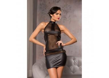 Abito Nero Elasticizzato Mini Dress Black - Allure