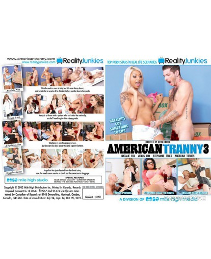 Dvd Trans American Tranny 3 - Reality Junkies