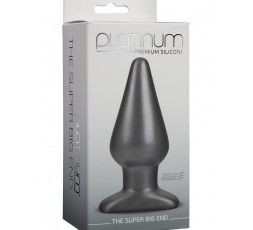Plug Anale The Super Big End Premium Silicone Platinum Grey – Doc Johnson