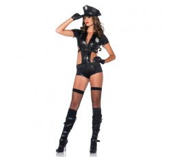 Sexy Shop Online I Trasgressivi - Carnevale Donna - Costume da Poliziotta Nero Officer Booty On Duty - Leg Avenue
