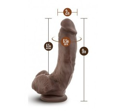 "Sexy Shop Online I Trasgressivi - Fallo Realistico XXL - Dr. Skin Mr. Mayor 9"" Dildo Brown - Blush Novelties"