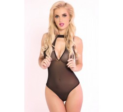 Sexy Shop Online I Trasgressivi Body Rete Fina Nero - Taking Risks Mesh Bodysuit - Pink Lipstick