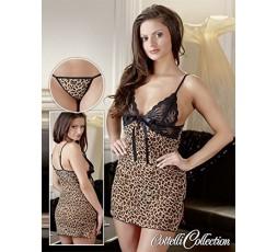 Sexy Shop Online I Trasgressivi - Sexy Lingerie - Babydoll Con Perizoma Leopardato - Cottelli Collection