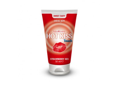 Lubrificante Commestibile Aromatizzato Fragola Hot Kiss Touch Strawberry Sex Sweet Tasty Oral Joy 50 Ml - Lube4lovers