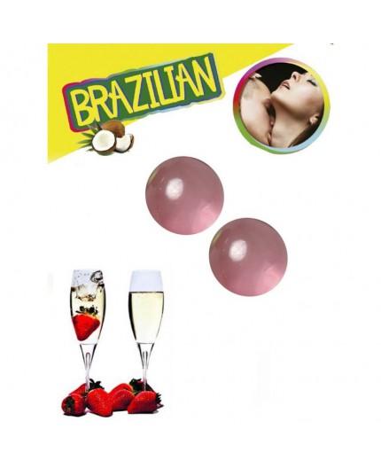 Palline Lubrificanti Effetto Afrodisiaco Fragola e Champagne