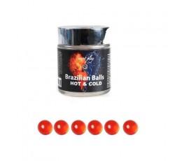 Palline Lubrificanti Effetto Caldo/Freddo Brazilian Balls 6 pezzi - Secret play