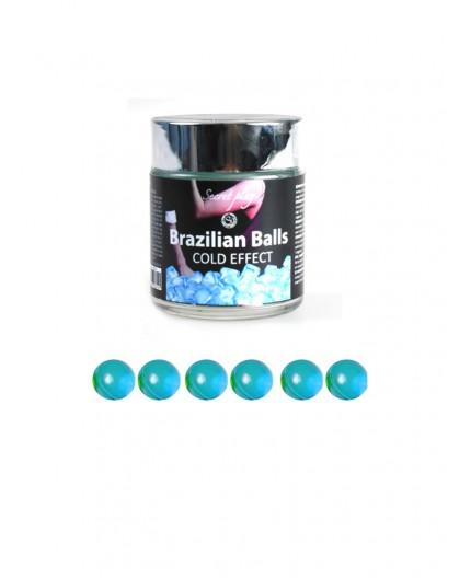 Palline Lubrificanti Effetto Freddo Brazilian Balls Cold Effect 6 pezzi - Secret play