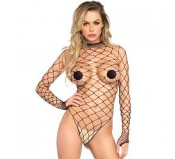 Sexy Shop Online I Trasgressivi - Sexy Lingerie - Body Rete Larga Nero Black - Leg Avenue