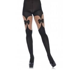 Sexy Shop Online I Trasgressivi - Calze & Collant - Collant con Fiocco Illusion Garterbelt Pantyhose - Leg Avenue