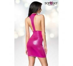 Sexy Shop Online I Trasgressivi Mini Abito Rosa Lucido Dress Pink - Saresia