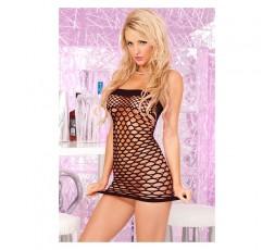 Sexy Shop Online I Trasgressivi Mini Abito Nero Rete Sexy Seamless Tube Dress Black - Pink Lipstick