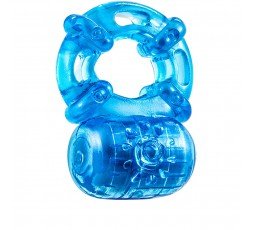 Anello Fallico Vibrante Silicone Blu Stay Hard Reusable 5 Function Cockring Blu - Blush Novelties