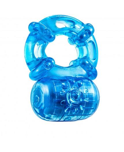 Anello Fallico Vibrante - Stay Hard Reusable 5 Function Cockring Blu - Blush Novelties