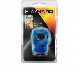 Anello Fallico Vibrante - Stay Hard Reusable 5 Function Cockring Blu - Blush Novelties