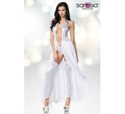 Sexy Shop Online I Trasgressivi Bodydress Legwarmer Bianco Lucido - Saresia