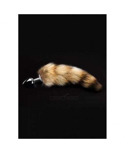 Sexy Shop Online I Trasgressivi Plug Anale Metallico Cromato Con Coda Maculata Jewellery Plug With Tail S - Dolce Piccante