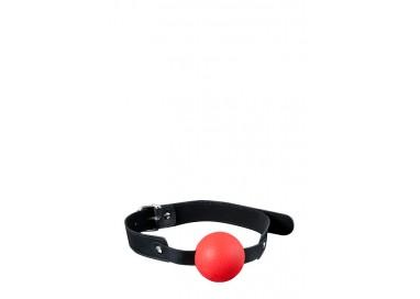 Costrittivo - Ball Gag Rossa E Nera - Guilty Pleasure