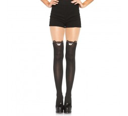 Sexy Shop Online I Trasgressivi - Calze & Collant - Collant Nere Con Orso Spandex Black Bear Opaque - Leg Avenue