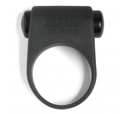 Anello Fallico Vibrante Silicone Grigio Feel It Baby Vibrating Cock Ring - Fifty Shades Of Grey