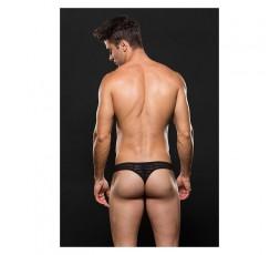Sexy Shop Online I Trasgressivi - Intimo Uomo - Perizoma Uomo Nero Semitrasparente - Envy Menswear