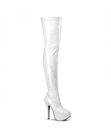 Sexy Shop Online I Trasgressivi - Stivale - Bordello Teeze 3000 Bianco - Pleaser