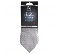 Sexy Shop Online I Trasgressivi - Linea 50 Sumature - Cravatta Raso Grigio Argento Christian Grey Tie - Fifty Shades Of Grey