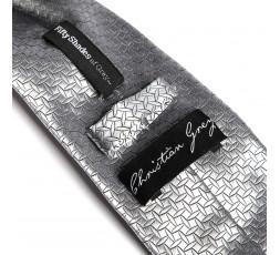Cravatta Raso Grigio Argento Christian Grey Tie - Fifty Shades Of Grey