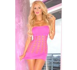 Sexy Shop Online I Trasgressivi Mini Vestido Rosa Perforado - Pink Lipstick