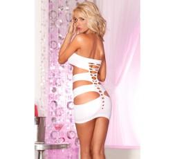 Sexy Shop Online I Trasgressivi Mini Abito Bianco Con Fori Nocturnal Seamless Mini Dress Whit - Pink Lipstick