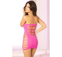 Mini Abito Rosa Forato E-Z Street Cutout Mini Dress - PINK LIPSTICK