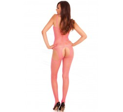 Suspender Bodystocking in Rete Rosa - Renè Rofè