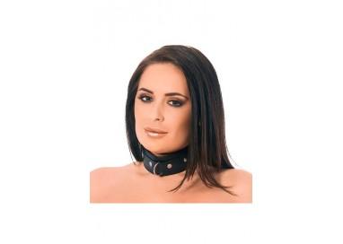 Costrittivo - Collare In Pelle Nero - Rimba