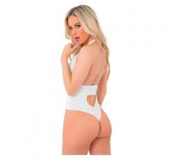 Sexy Shop Online I Trasgressivi Body Bianco Take The Plunge Bodysuit - Pink Lipstick