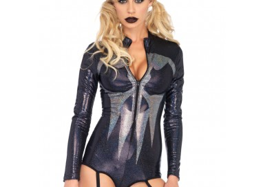 Halloween Donna - Body Con Giarrettiera Shimmer Iridescent Skull Garter - Leg Avenue