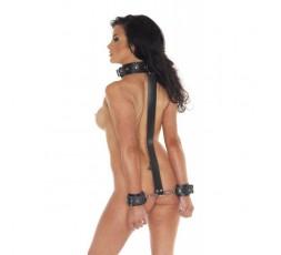 Sexy Shop Online I Trasgressivi - Costrittivo - Combinazione Collare E Polsiere In Pelle - Rimba