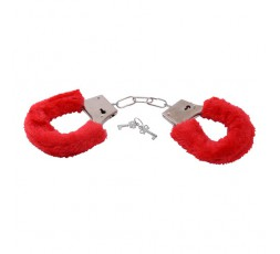 Manette Rosse Bestseller Furry Handcuffs Red - Toys4Lovers