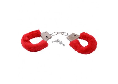 Costrittivo - Bestseller Furry Handcuffs Red - Toys4Lovers