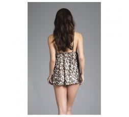 Sexy Shop Online I Trasgressivi - Sexy Lingerie - Babydoll Jennifer Leopard Satin L - Be Wicked