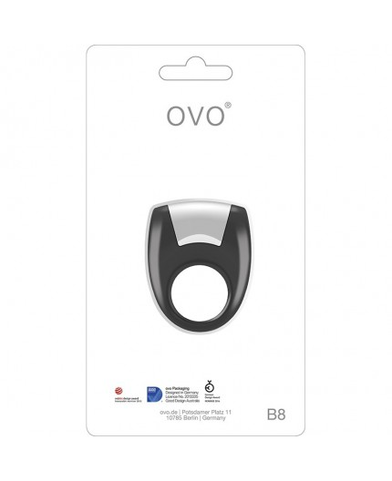 Anello Fallico Vibrante Nero Vibrating Ring - Ovo