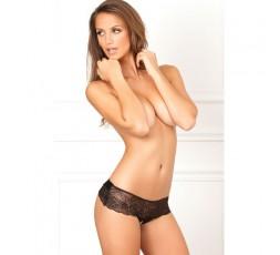 Crotchless Lace Bow-Back Panty, S/M - Renè Rofè