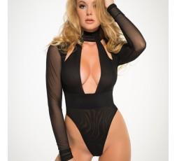 Sexy Shop Online I Trasgressivi - Sexy Lingerie - Body Nero Tia Just A Kiss Sheer Body - Allure