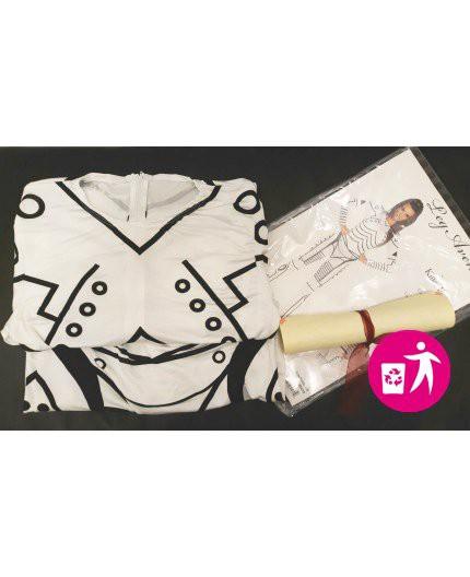 Sexy Shop Online Itrasgressivi Rottamato Usato - Costume Sexy Killer Robot Catsuit Bianco - Leg Avenue