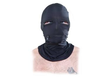 Maschera BDSM - Cappuccio Con Cerniera Nero - Pipedream