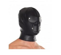 Sexy Shop Online I Trasgressivi - Maschera BDSM - Cappuccio Con Paraocchi Staccabili E Boccaglio - Rimba